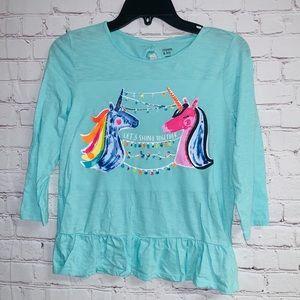 Crown & Ivy Lets Shine Together Unicorn Shirt